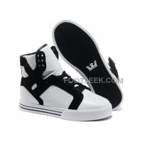 Supra Skytop Ventilate White Black Women's Shoes New