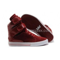 Supra TK Society Suede Wine Red White Shoes Online
