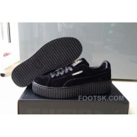 Puma By Rihanna Suede Creepers Black New Release Free Shipping