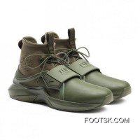 FENTY TRAINER HI MENS SNEAKERS Cypress-Cypress Style Number 191001-02 Discount