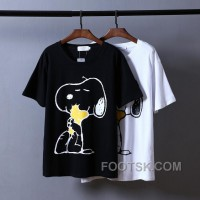 Snoopy Tshirt Black White Unisex Cheap To Buy