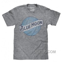 Blue Moon Color Logo | Soft Touch Tee-x-large: Clothing New Style