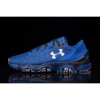 Best UA SpeedForm XC Blue Black Mens Running Shoes Discount S7Fe4