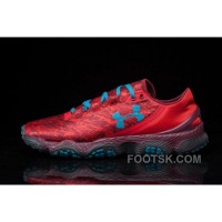 Buy UA SpeedForm XC Red Blue Mens Running Shoes Super Deals Dp386