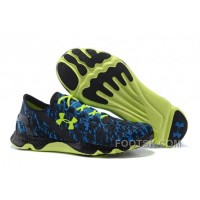 Under Armour UA SpeedForm Apollo Graphic Running Shoe Black Blue Yellow Sneaker Lastest JhsCY45