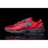 Under Armour SpeedForm XC Mens Wine Red Light Blue Discount