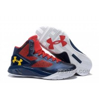 Under Armour ClutchFit Drive 2 Men Basketball Shoes Deep Blue Red Yellow Christmas Deals JMbpP