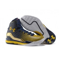 Under Armour Clutchfit Drive Custom Blue Gold Sneaker Discount X7iTWhb