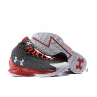 Under Armour Curry One Custom Gray White Red Sneaker Discount IsKbs