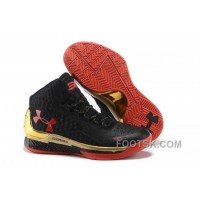 Under Armour Curry One Kids Black Red Sneaker Cheap To Buy M6ddrh