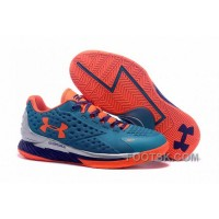For Sale Under Armour Curry One Low Kids Shoes Blue Silver Orange Sneaker TBkKN
