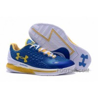 Free Shipping Under Armour Curry One Low Kids Shoes Blue White Home Sneaker BNcez
