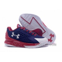 Christmas Deals Under Armour Curry One Low Women Dark Blue Red White Sneaker 3jr58Ce