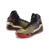UA Curry 2 Under Armour Stephen Curry 2 Black Golden Red Shoes