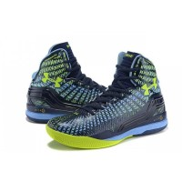 UA Curry 2 Under Armour Stephen Curry 2 Black Yellow Blue Shoes