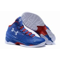 Under Armour UA Curry 2 Two Royal blue Red and White