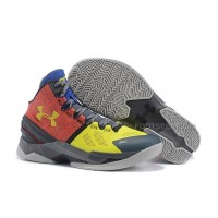 UA Curry 2 Under Armour Stephen Curry Two Orange Yellow Black Royal