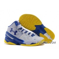 'Dub Nation' Under Armour Curry 2 Blue/White – Yellow Free Shipping CJRP6