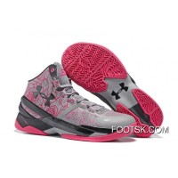 'Mother's Day' Under Armour Curry 2 Light Grey/Black-Pink Super Deals ETQ2Wa
