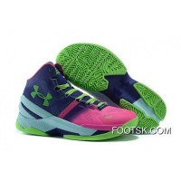 'Northern Lights' Under Armour Curry 2 Rebel Pink/Purple Panic-Poison Green Discount 8FCTd