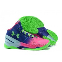 Curry Under Armour 2 UA Two Multi-colored North Pink Royal Blue Green