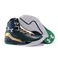 Hot Under Armour ClutchFit Drive UA Curry 2 Midnight Blue Gold Green