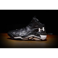 Men's Under Armour Micro G Anatomix Spawn 2 Basketball Shoes Black And White Online