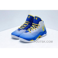 Under Armour Curry 2.5 Men Basketball Shoes Blue Gray Yellow Discount TcYj7X