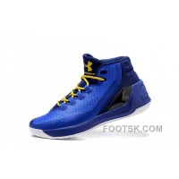 2016 Under Armour Curry Three Royal Blue New Mens Shoes Authentic 5tiiB
