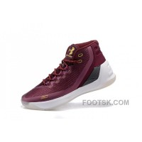 Free Shipping Buy Under Armour Curry Three Dark Red New Mens Shoes WMrcH