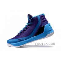 Christmas Deals Under Armour Curry Three Purple Blue Cheap New Mens Shoes FS5ExMH
