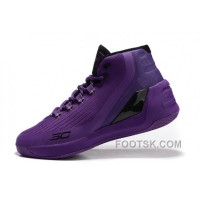 For Sale Cheap Under Armour Curry 3 Purple Black New Mens Shoes YSkh5c