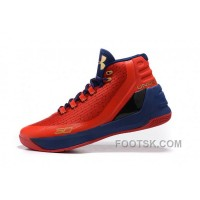 Christmas Deals Cheap Under Armour Curry Three Red Blue New Mens Shoes 3t56A