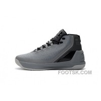 Discount Under Armour Curry Three Grey New Mens Shoes Lastest X3G7EZ
