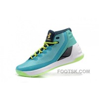 Hotsale Under Armour Curry Three Blue Green New Mens Shoes Online Y8Sh3