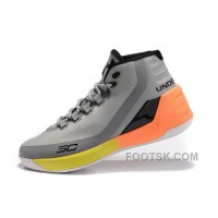 New Under Armour Curry 3 Grey Yellow Orange New Mens Shoes For Sale YhfyP