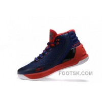 Discount Outlet Under Armour Curry Three Red Dark Blue Sale New Mens Shoes EWmAmh