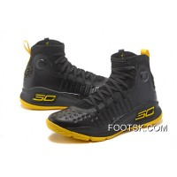 Under Armour Curry 4 Basketball Shoes Black Yellow Lastest