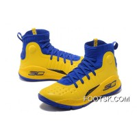 Under Armour Curry 4 Basketball Shoes Yellow Blue Online