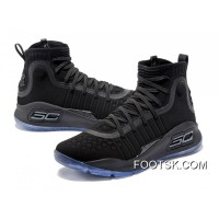Under Armour Curry 4 Basketball Shoes Black Blue Super Deals