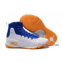 Under Armour Curry 4 Basketball Shoes Blue White Orange Online