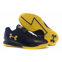 "New Style Under Armour Curry One Low ""Blackout"" Black/Yellow Cheap Sale"