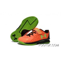 Under Armour Kids Orange Green Shoes Lastest