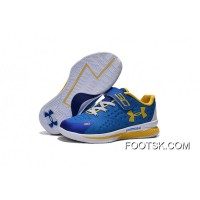 Under Armour Kids Blue White Shoes Lastest