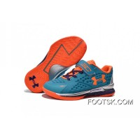 Under Armour Kids Blue Orange Shoes New Style