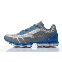Discount Under Armour Scorpio Grey White Blue Cheap UA Mens Shoes WWyDaN