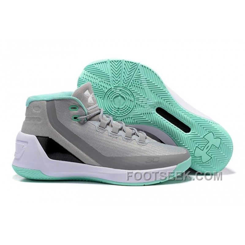 Under Armour Stephen Curry 3 Shoes Grey White Green 4b711f018