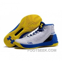 Under Armour Stephen Curry 3 Shoes White Blue Yellow