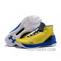 Under Armour Stephen Curry 3 Shoes Yellow Blue White