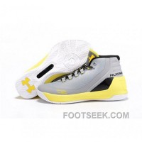 Under Armour Stephen Curry 3 Shoes Yellow White Gray